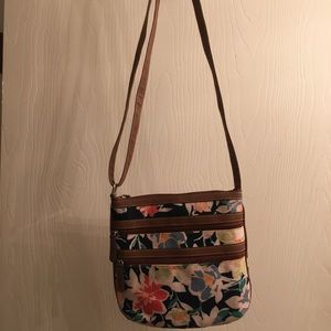 Croft & Barrow Floral Cross Body Bag